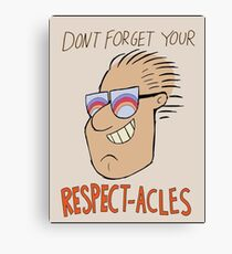 Respectacles Canvas Print
