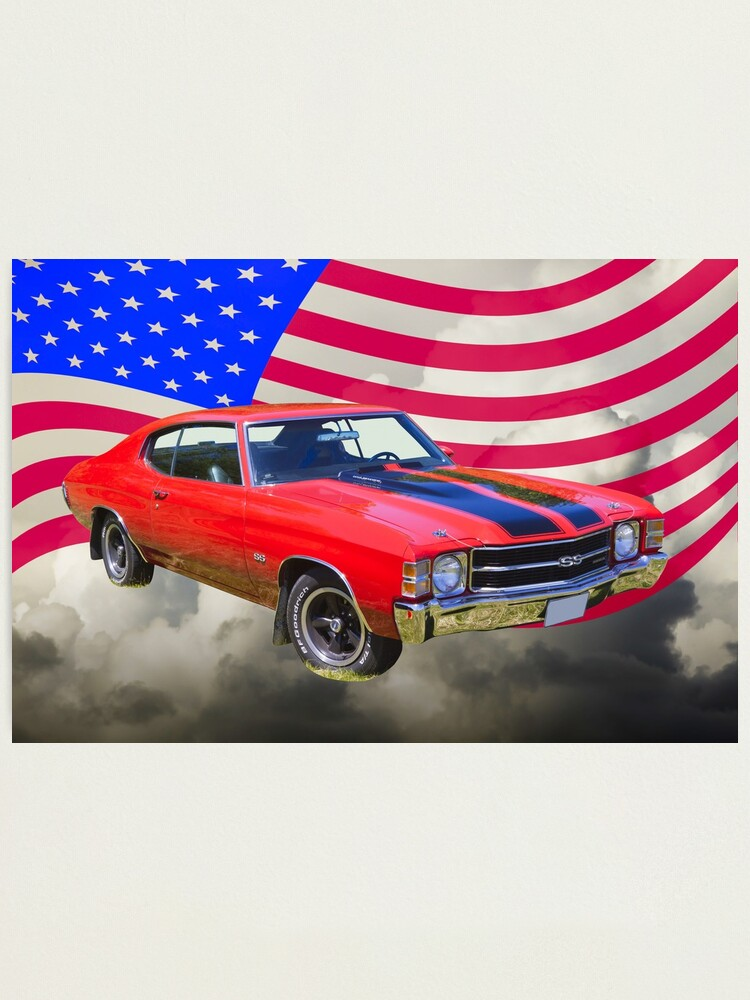 1970 Chevrolet Chevelle Photo Classic Cars Hardtop Coupe Print Vintage Poster