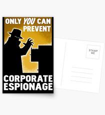 Only You Can Prevent Corporate Espionage Postcards