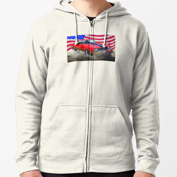 American Hotrod V8 Muscle Car 1950s 1960s Classic Logo Hoodie for Men