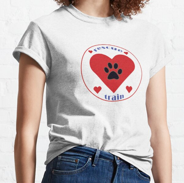 Rescued Dogs Rule!  Classic T-Shirt