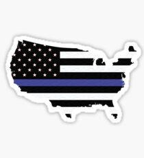 Thin Blue Line United States Sticker