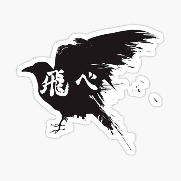 Haikyuu Crow Fly Sticker