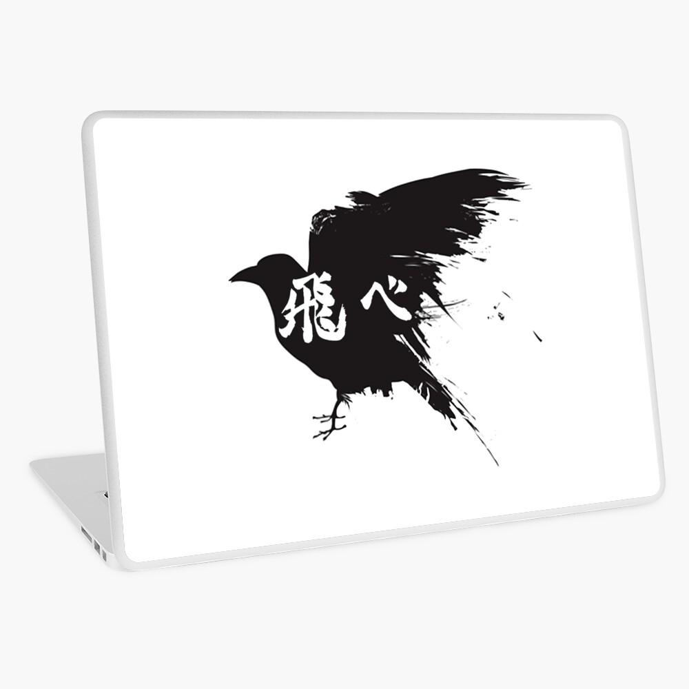 Haikyuu Crow Fly Laptop Skin