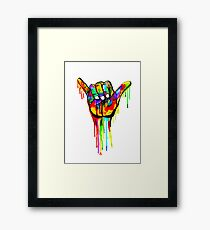 Hang 10 Framed Print