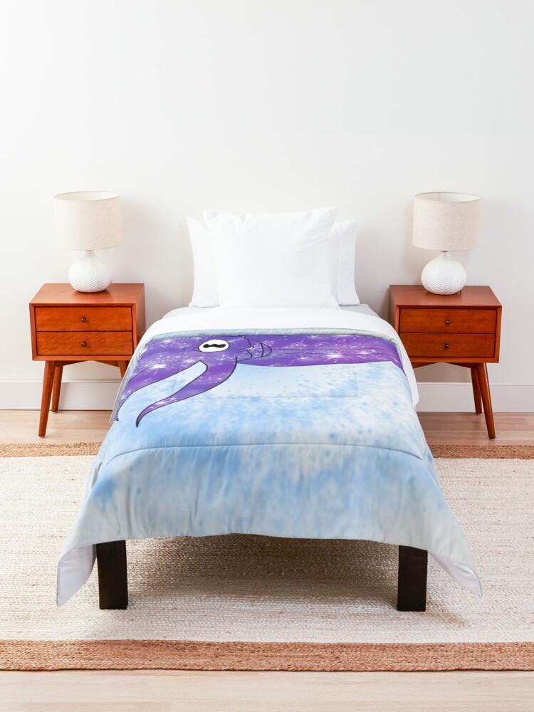 Alternate view of Galaxy Cuttlefish Comforter