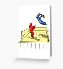 Battlebot Smackdown Greeting Card