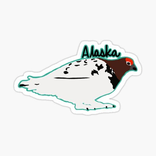 Willow ptarmigan Alaska Sticker