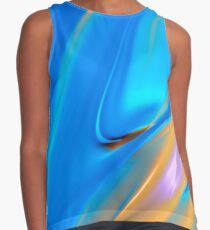 Abstract in Blue Contrast Tank