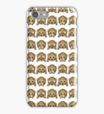 Monkey Evil Faces Emoji Collage iPhone Case/Skin