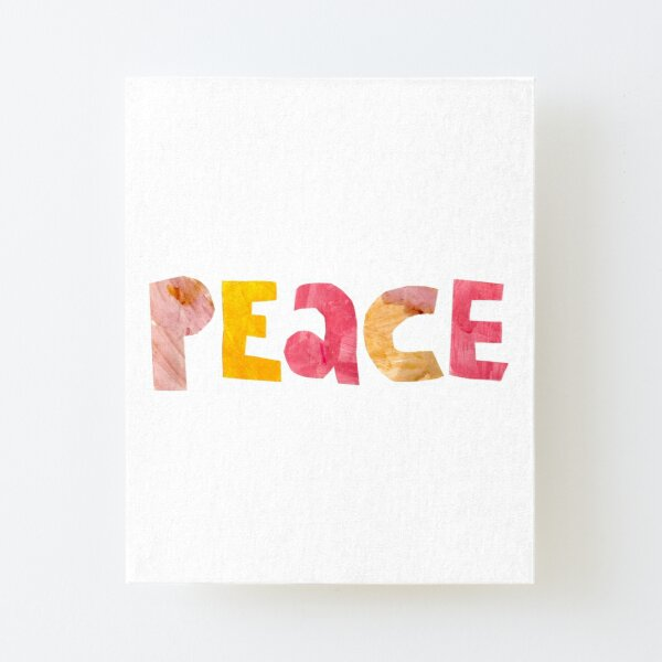 Peace Canvas Mounted Print