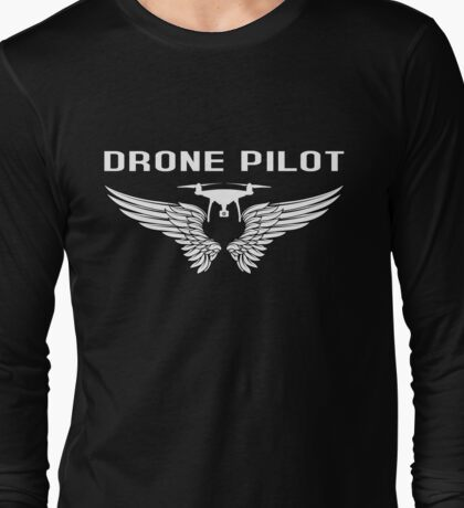 Drone Pilot With Wings Long Sleeve T-Shirt