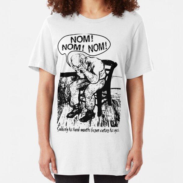 NOM NOM NOM : Hand Mouths Slim Fit T-Shirt