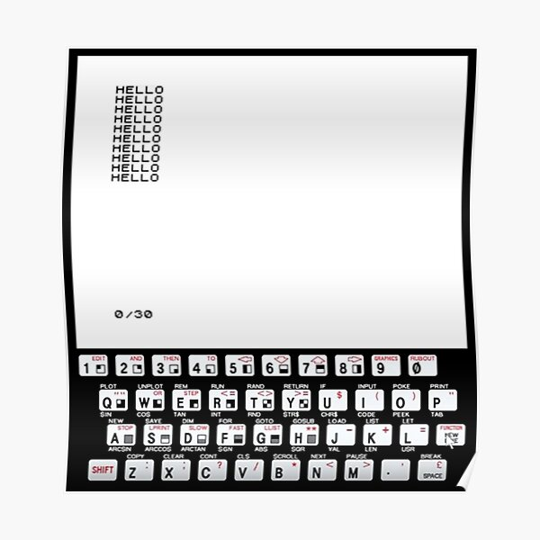 ZX81 Classic PC Poster