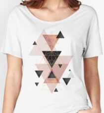 Geometric Triangles in blush and rose gold Women's Relaxed Fit T-Shirt