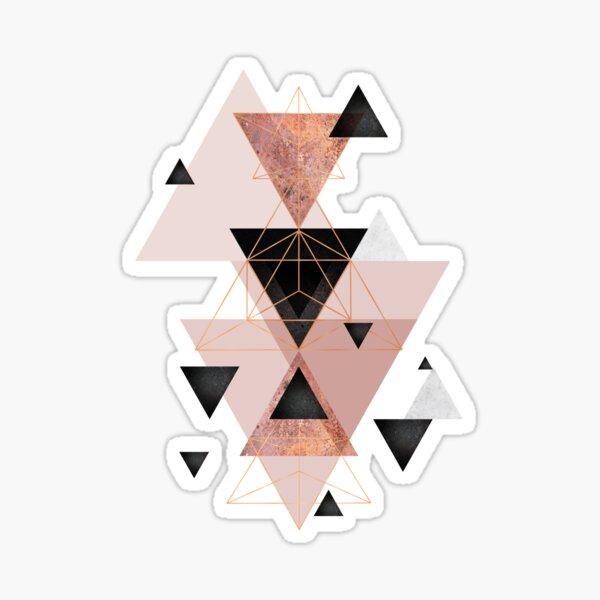 Geometric Triangles in blush and rose gold Sticker