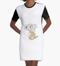 Cubone with Outline Graphic T-Shirt Dress