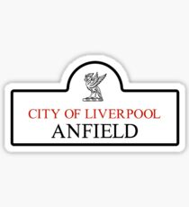 Anfield District, Liverpool Road Sign, UK Sticker