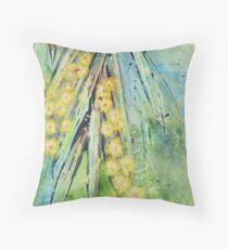 Australian Wattle Throw Pillow