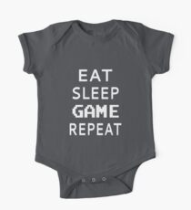 Eat Sleep Spiel wiederholen Baby Body Kurzarm