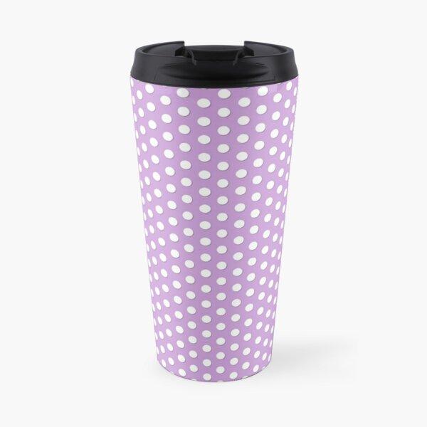 Purple Polka Dot Dalmatian Pattern Travel Mug