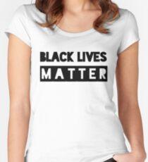 Black lives matter merchandise Women's Fitted Scoop T-Shirt