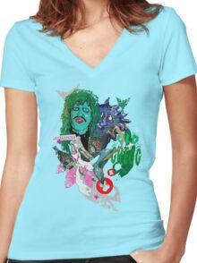 OLD GREGG Women's Fitted V-Neck T-Shirt