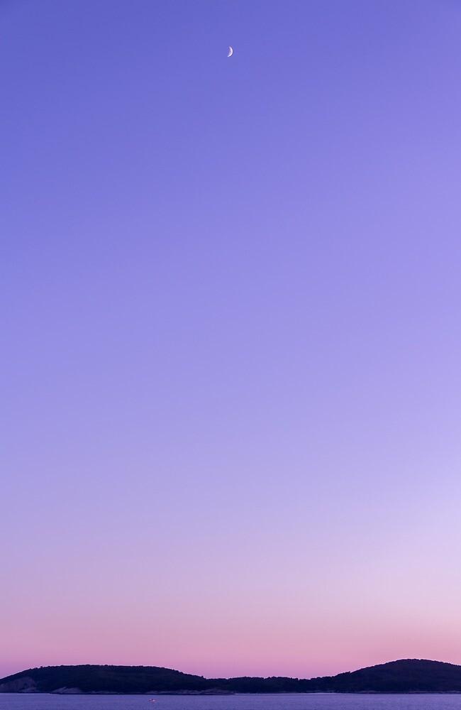 Dubrovnik Sunset And Moon by Matti Ollikainen