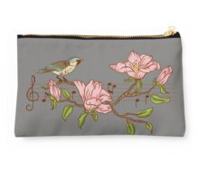 Birds, flowers and music Studio Pouch
