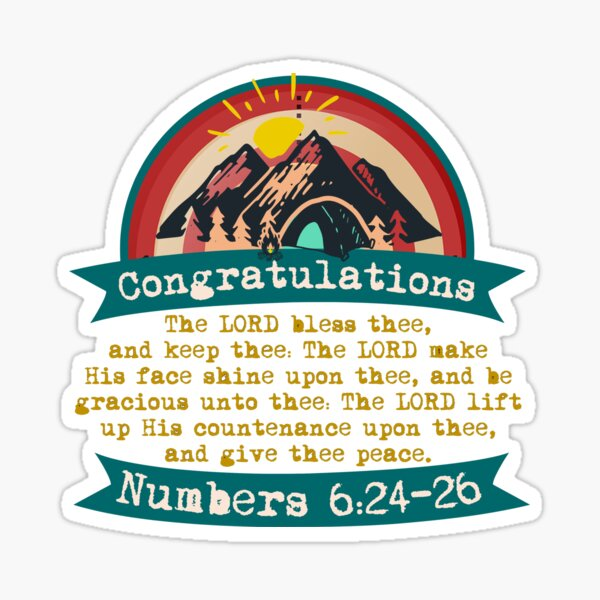 Congratulations - Blessing Sticker