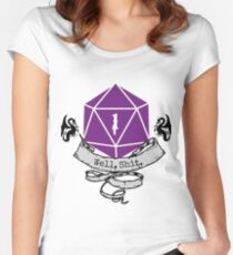 Critical Fail Roll Women's Fitted Scoop T-Shirt
