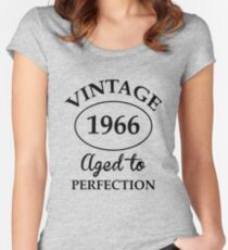 vintage 1966 aged to perfection Women's Fitted Scoop T-Shirt