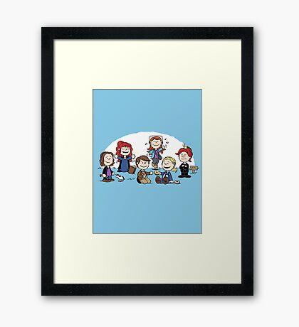 The Super-Nutural Girls Framed Print