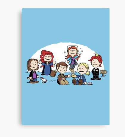 The Super-Nutural Girls Canvas Print
