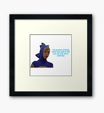 Sonic Sanic The Problem of Being Faster Than Light Framed Print