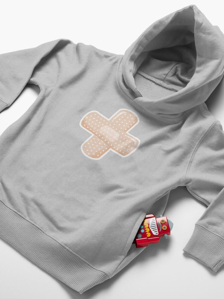 Alternate view of First Aid Plaster Toddler Pullover Hoodie