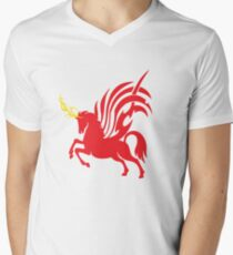 Red Unicorn (Album Artwork) Men's V-Neck T-Shirt