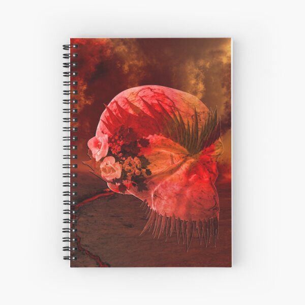 Skull and Roses Spiral Notebook