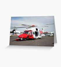 Coastguard rescue helicopter  Greeting Card