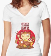 Sushi Bar Women's Fitted V-Neck T-Shirt