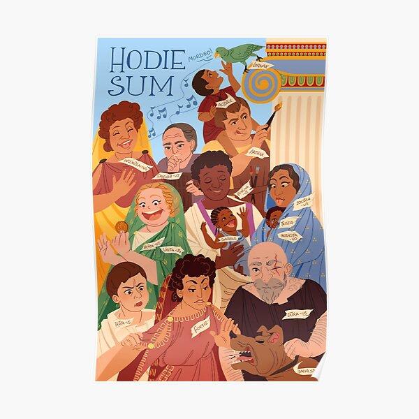 Hodie Sum - Latin Language Learning Poster
