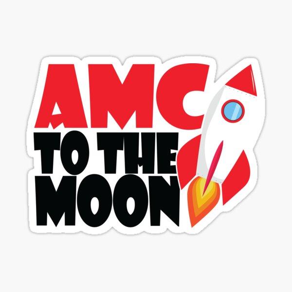 AMC TO THE MOON WSB GME Parody Sticker