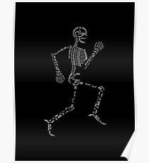 The running skeleton Poster