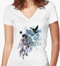 EXPECTO PATRONUM HEDWIG WATERCOLOUR Women's Fitted V-Neck T-Shirt