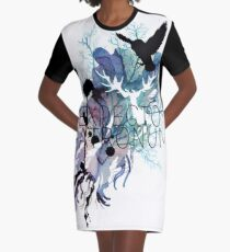 EXPECTO PATRONUM HEDWIG WATERCOLOUR Graphic T-Shirt Dress
