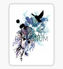 EXPECTO PATRONUM HEDWIG WATERCOLOUR Sticker