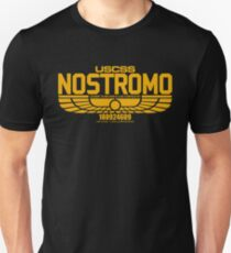 NOSTROMO ALIEN MOVIE STARSHIP (YELLOW) T-Shirt