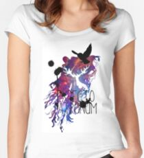EXPECTO PATRONUM HEDWIG GALAXY Women's Fitted Scoop T-Shirt