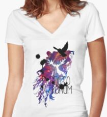 EXPECTO PATRONUM HEDWIG GALAXY Women's Fitted V-Neck T-Shirt