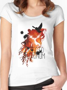 EXPECTO PATRONUM HEDWIG FIRE Women's Fitted Scoop T-Shirt